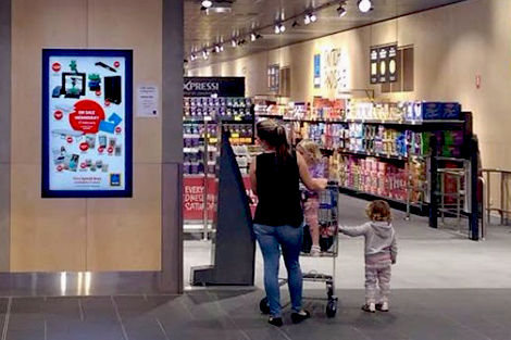 datmedia indoor digital signage ALDI